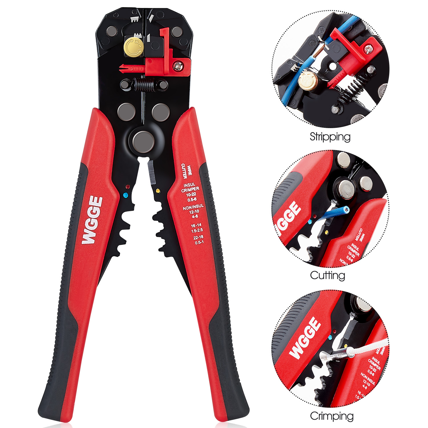 WGGE WG-014 Self-Adjusting Insulation Wire Stripper. For stripping ...